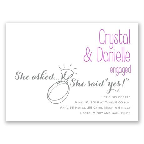 Forever Together Mrs. & Mrs. Petite Engagement Party Invitation