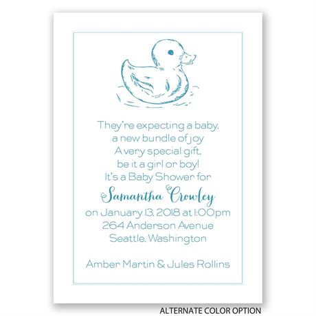 Rubber Ducky - Mini Baby Shower Invitation