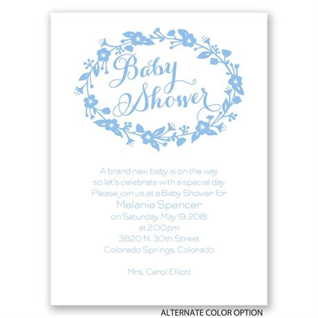 Floral Frame - Petite Baby Shower Invitation