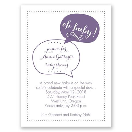 Oh Baby! Petite Baby Shower Invitation
