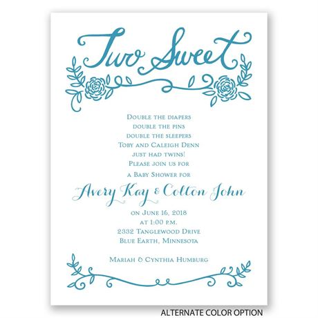 Two Sweet - Petite Baby Shower Invitation