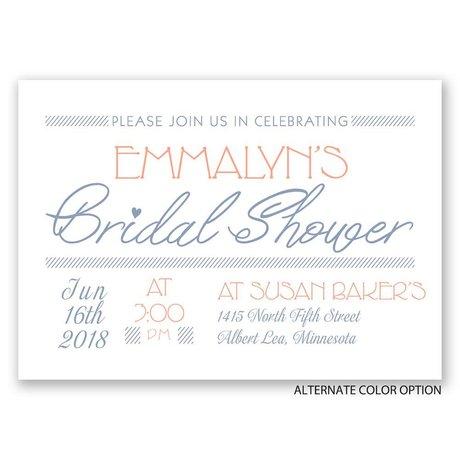 A Celebration - Bridal Shower Invitation
