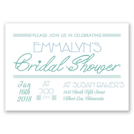 A Celebration Bridal Shower Invitation