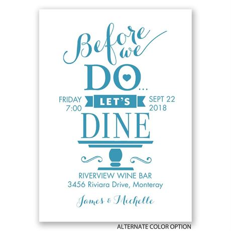 "Let""s Dine - Mini Rehearsal Dinner Invitation"