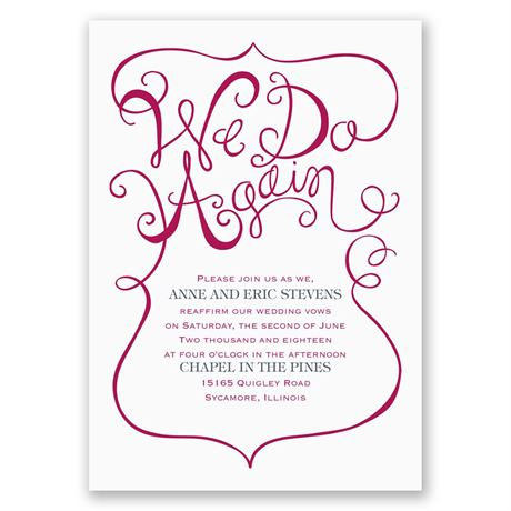 We Do Again - Vow Renewal Invitation