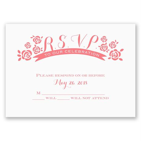 Flowers and Ribbon Response Card