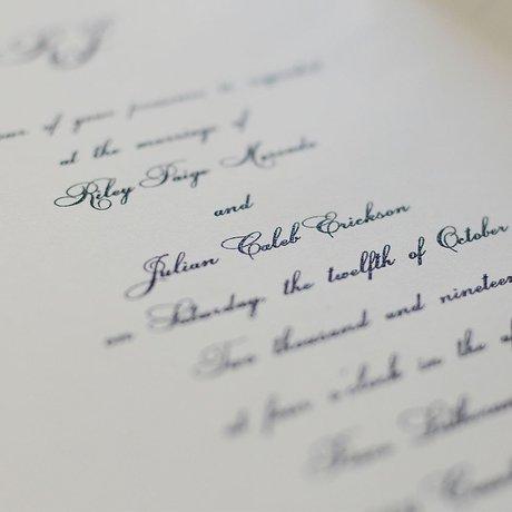 Royal Details - Laser Cut Invitation