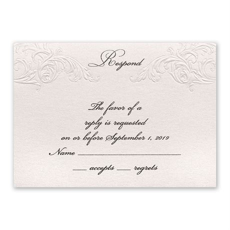 Elegance and Grace Response Card