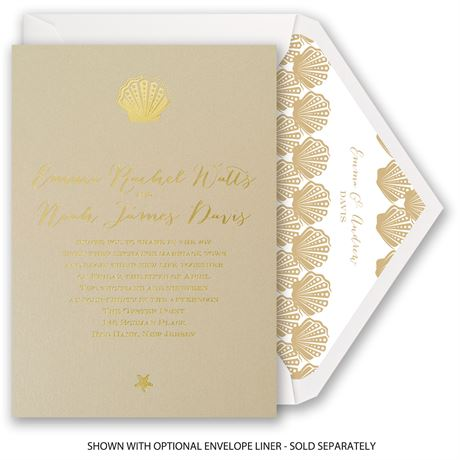 Sun Kissed - Foil Invitation