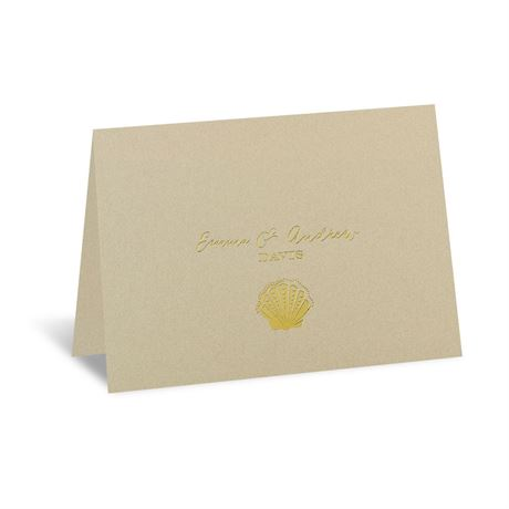 Sun Kissed Foil Thank You Card