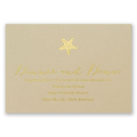 Sun Kissed Foil Reception Card