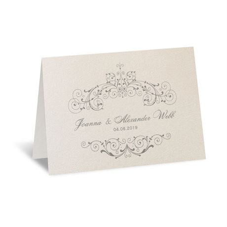 Elegant Arrangement Thank You Card