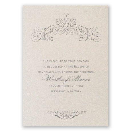 Elegant Arrangement Reception Card