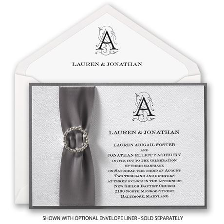 Sheer Sophistication - Horizontal - Invitation