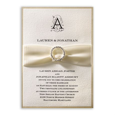 Luxe Details - Vertical - Invitation