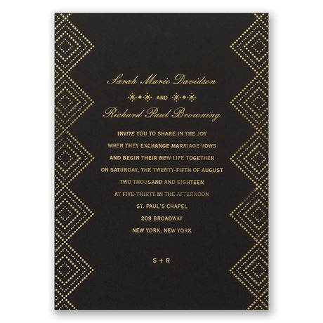 Modern Deco Foil Invitation