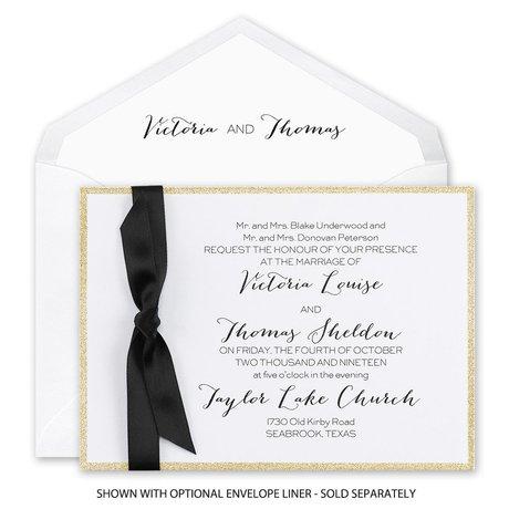 Golden Glow - Horizontal - Invitation