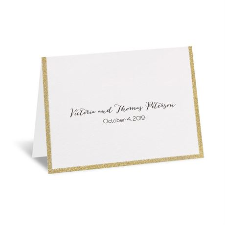 Golden Glow Thank You Card