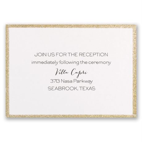 Golden Glow Reception Card