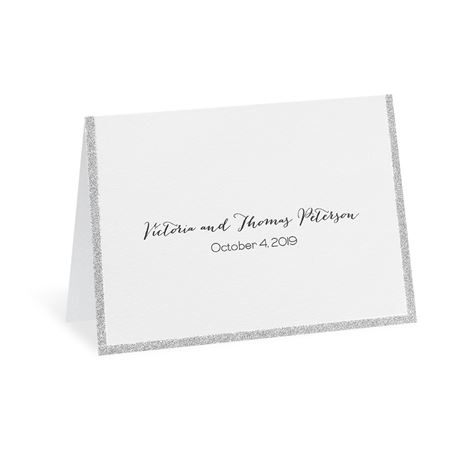 Silver Sparkle Thank You Card
