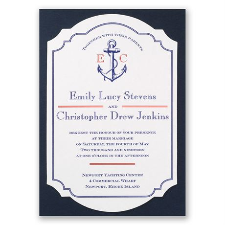 Seafaring Love Invitation