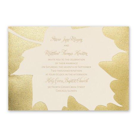 Gold Leaf - Foil Invitation
