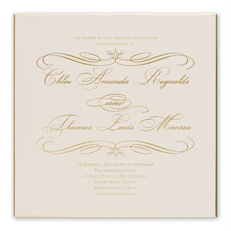 Gold Finish Foil Invitation
