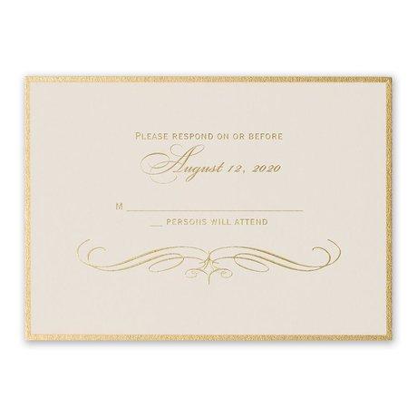 Gold Finish Foil Response Card
