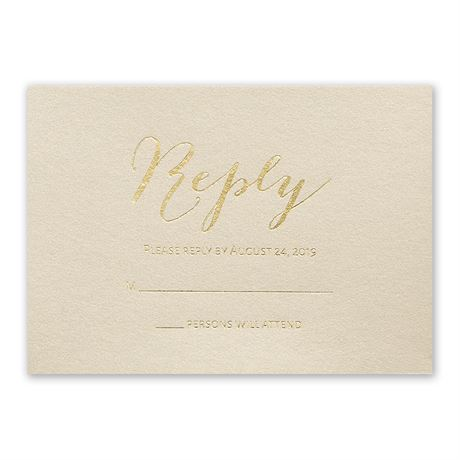 Gold Signature Foil Response Card