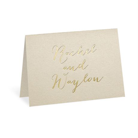 Gold Signature Foil Thank You Card