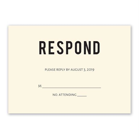 Forever Brilliant Response Card