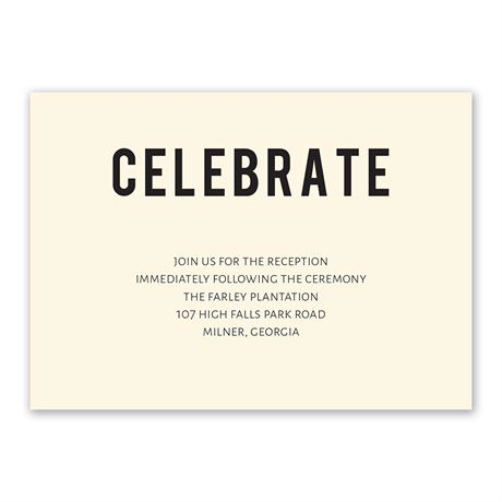 Forever Brilliant Reception Card