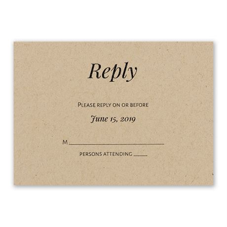 Naturally Chic Response Card