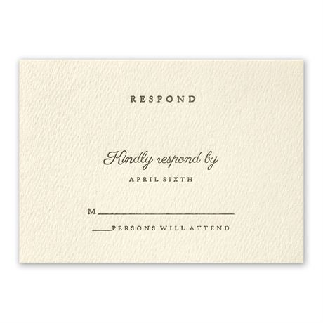 Modern Sophistication Response Card