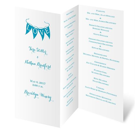 White Trifold Program