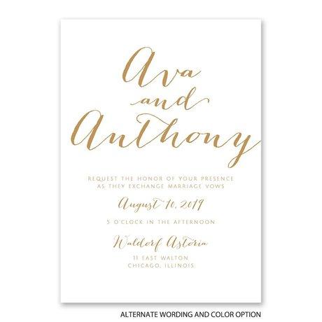 Letter Love - White - Invitation