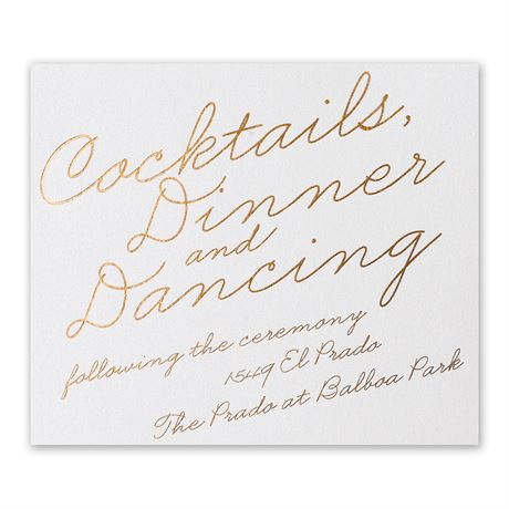 Exquisite Penmanship - White Shimmer - Foil Information Card