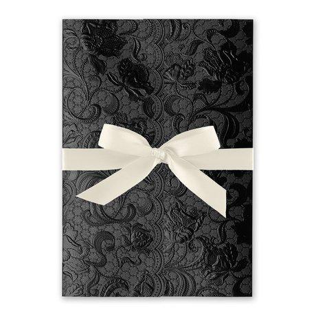 Ebony Vines - Ecru - Foil Invitation