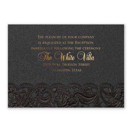 Ebony Vines Foil Reception Card