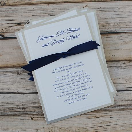 Silver Sophisticated Border - Invitation