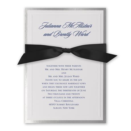 Silver Sophisticated Border Invitation