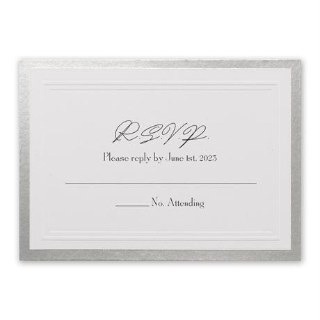 Silver Sophisticated Border Response Card