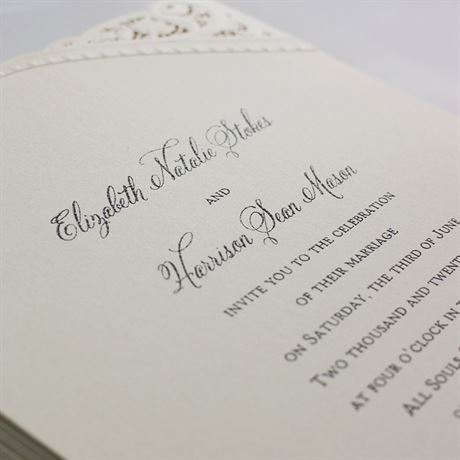 Touch of Lace - Laser Cut Invitation