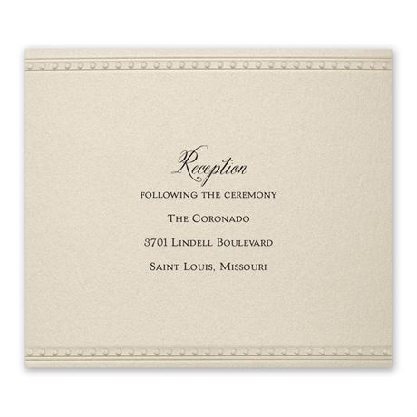 Touch of Lace Reception Card