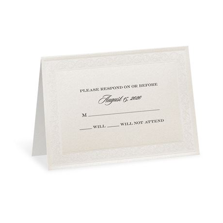 Elegant Display Response Card