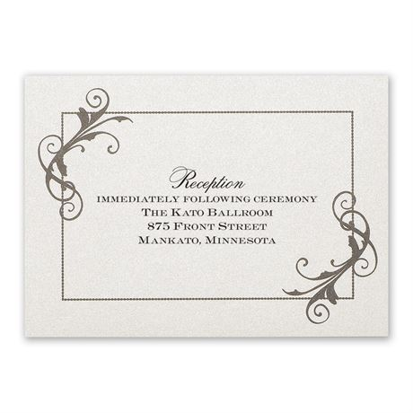 Flourishing Beauty Reception Card