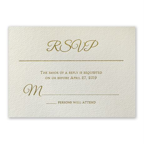 Layers of Luxury Foil Response Card