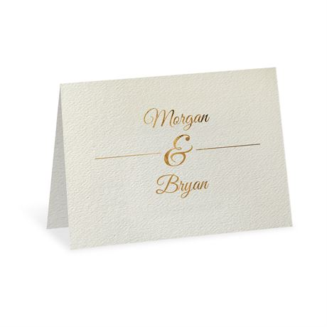 Layers of Luxury Gold Foil Thank You Card