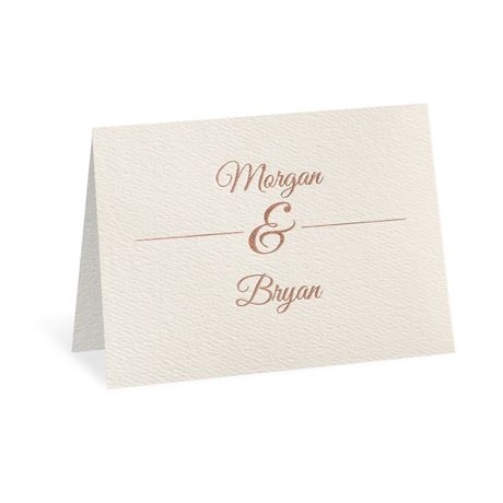 Layers of Luxury Rose Gold Foil Thank You Card
