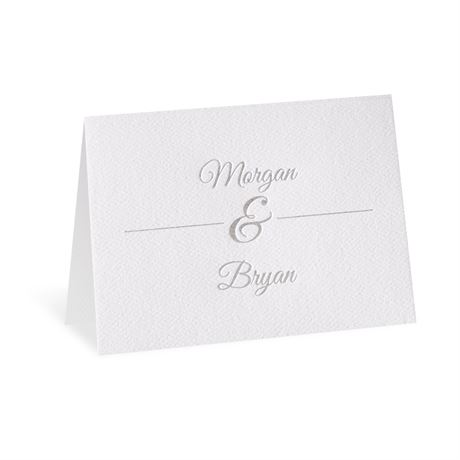 Layers of Luxury Silver Foil Thank You Card